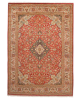 Silk Kashan - Red